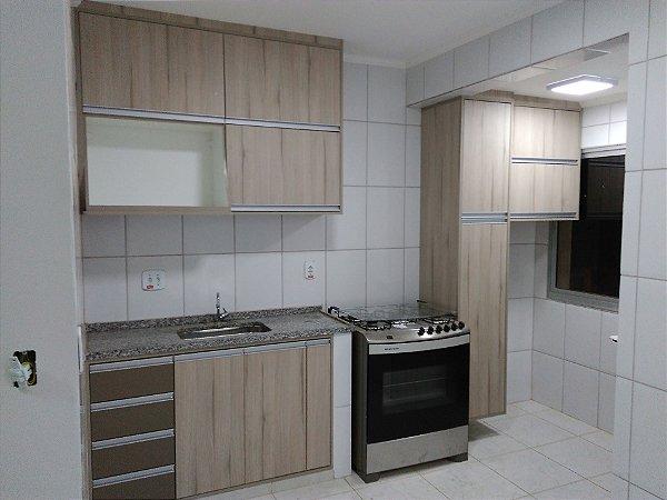 Cozinha e Lavanderia Planejadas Sob Medida em MDF Grigio - Masisa