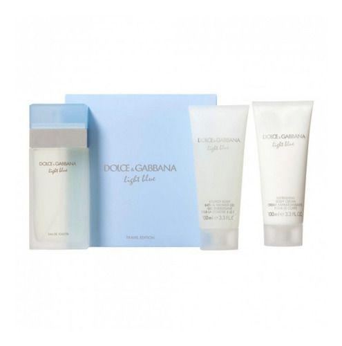 KIT Perfume Dolce & Gabbana Light Blue Feminino EDT 100ml + Body Lotion 100ml + Gel 100ml