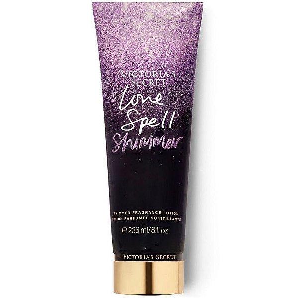 Creme Corporal Victoria Secret Love Spell Shimmer com brilho 236ml