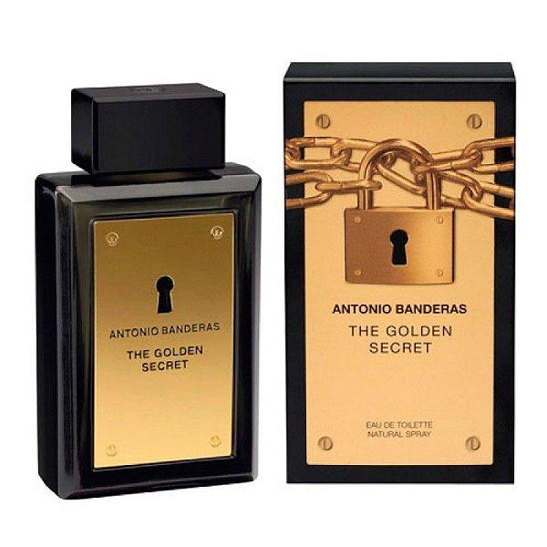 Perfume Antonio Banderas The Secret Gold Masculino EDT 200ml