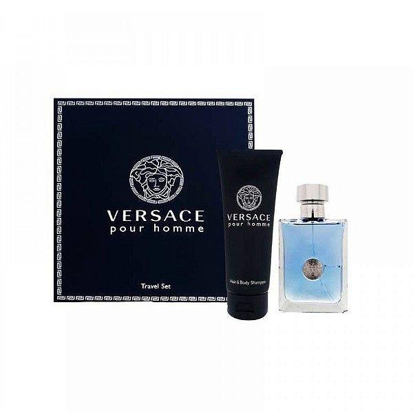 Kit Perfume Versace Pour Homme EDT 100ml + Shampoo