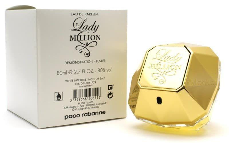 TESTER Perfume Paco Rabanne Lady Million Feminino EDP 80ml