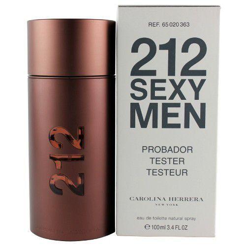 TESTER Perfume Carolina Herrera 212 Sexy Masculino EDT 100ml