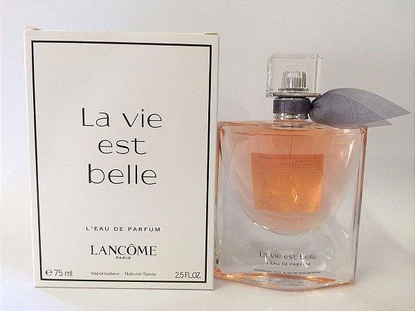 TESTER Perfume Lancôme La vie est belle Feminino EDP 75ml