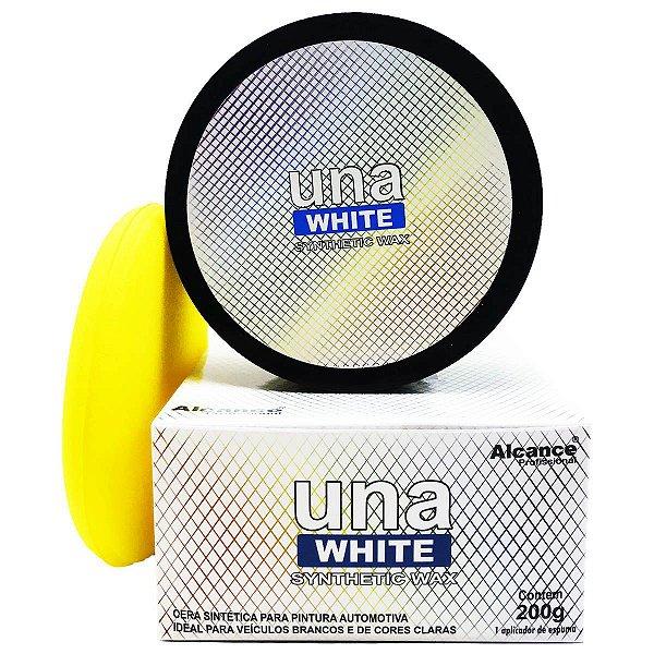 Cera White para Carro branco e Prata com Sio2 e Tio2 - Brilho Extremo 200g