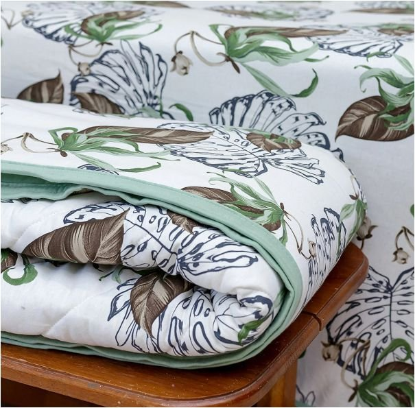 Cobre Leito folhas de algodão