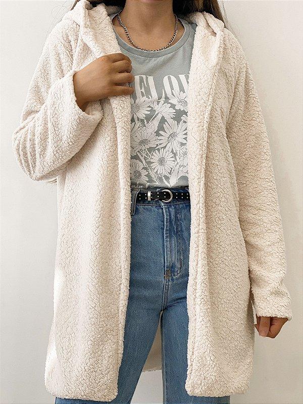 casaco alongado teddy off