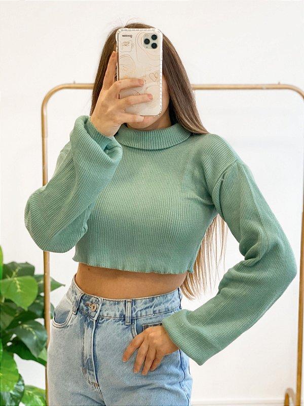 cropped tricô crush verde