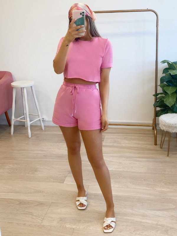 conjunto moletom nice rosa