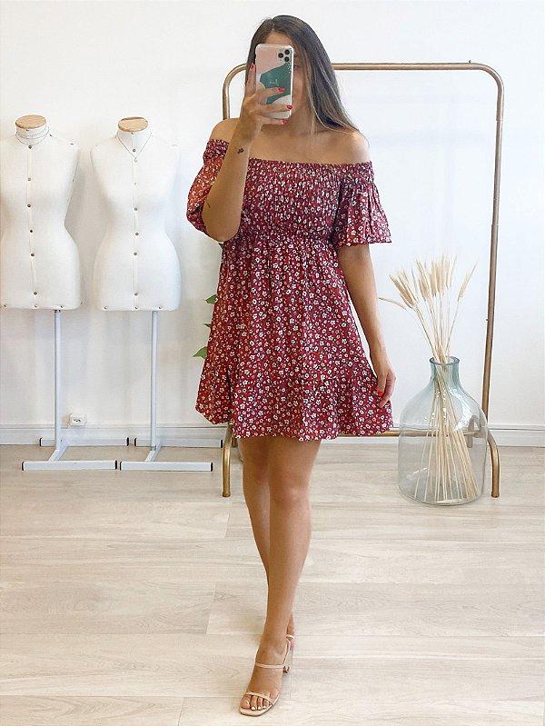 vestido lastex floral lara
