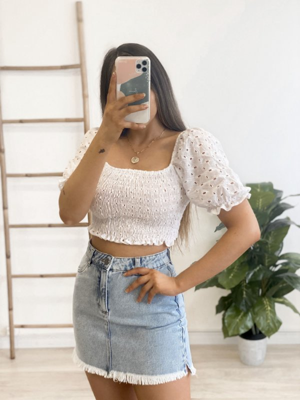 blusa cropped dora