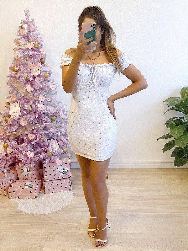 vestido ciganinha spring white
