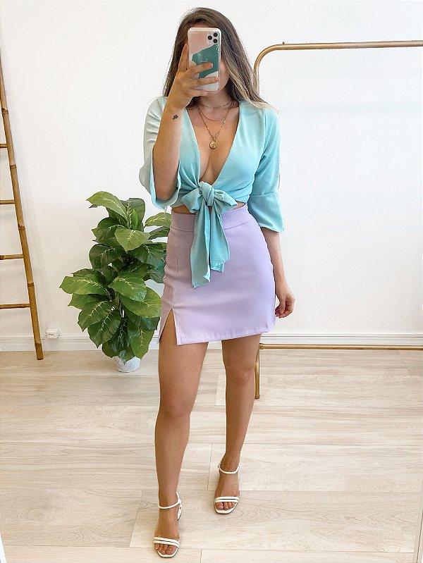 blusa cropped lívia aqua