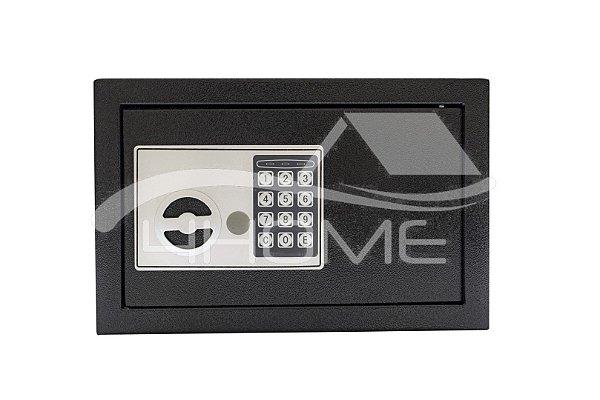 Cofre Eletrônico Digital Teclado Senha + 2 Chaves 31/20/20cm