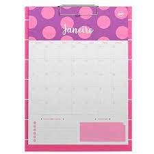 Prancheta C/bloco P/anotacoes Pink - Dac