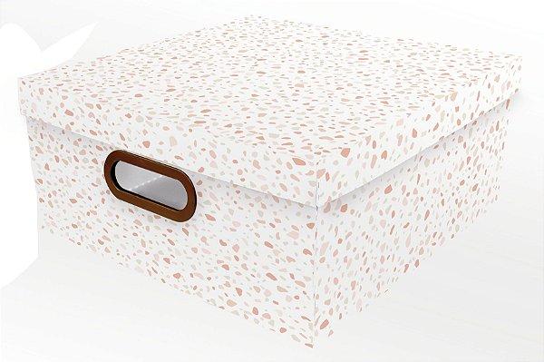 Caixa Organizadora Granilite G Rosa - Dello