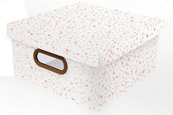 Caixa Organizadora Granilite M Rosa - Dello
