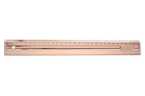Regua Metalizada 30cm Rosa Gold - Dello