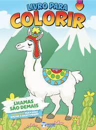 Livro P/colorir Meninas Lhamas Sao Demais - Bicho