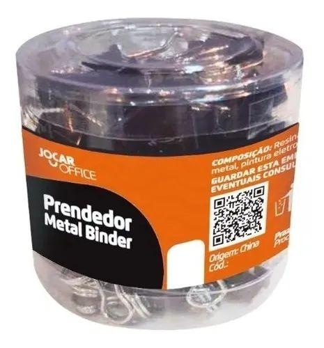 Binder Clip 25mm Cx/48 Preto - Jocar