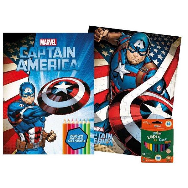 Marvel Kit Diversao Capitao America -bicho Esperto