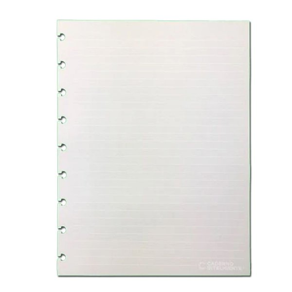Refil Medio Pautado 90g Linha Branca - Caderno Int