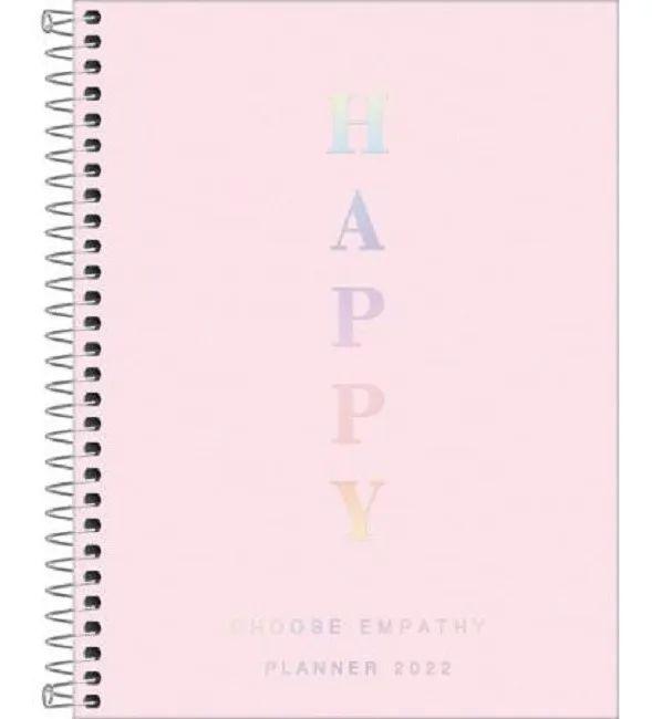 Agenda Esp M7 Planner Happy Rosa - Tilibra