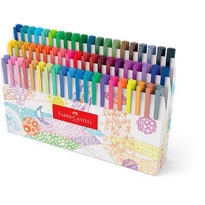 Estojo C/60 Caneta Fine Pen - Faber Castell