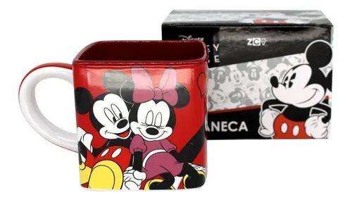 Caneca 300ml Cubo Mickey E Minnie Namorados- Zona