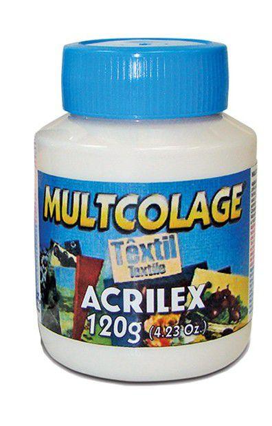 MULTCOLAGE TEXTIL 120G  - ACRILEX
