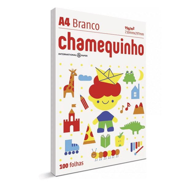 Papel Sulfite Chamequinho A4 75G 100 Folhas-Chamex