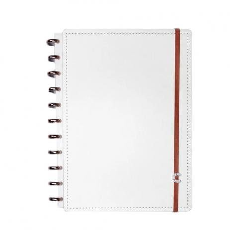 CADERNO INTELIGENTE DELUXE ALL WHITE - GRANDE