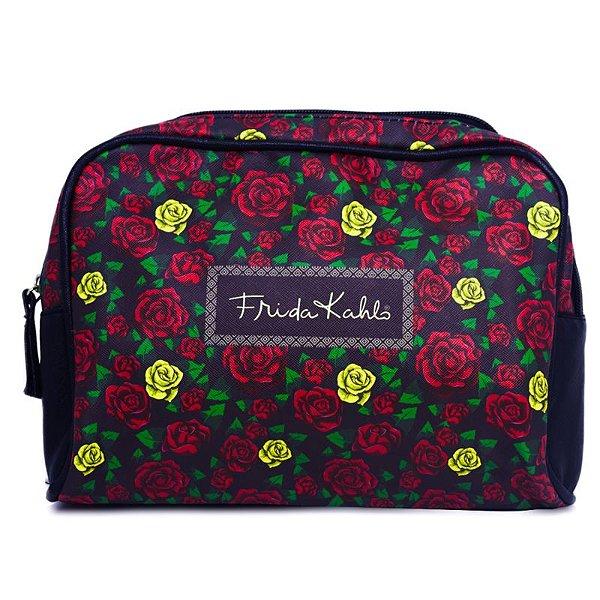 Necessaire Frida Kahlo Colored Flowers