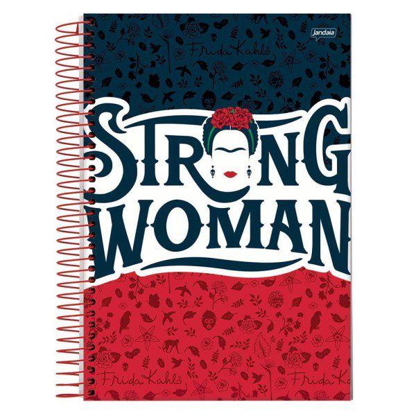 Caderno 1/4 C.D. 96 Folhas Jandaia - Frida Kahlo Strong Woman