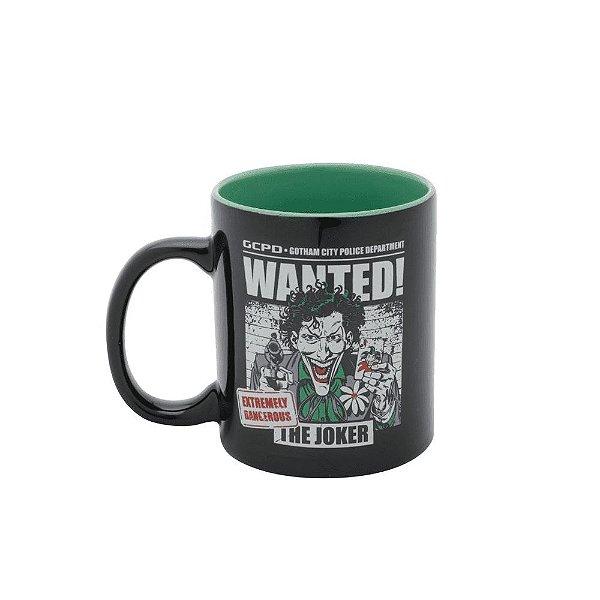 Caneca Porcelana 320ml Joker / Coringa Wanted - DC Comics