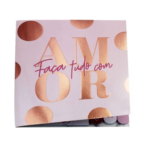 Bloco De Recados Uatt Sticker Pop Faça Tudo Com Amor Rosa
