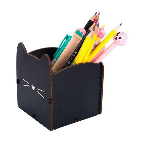 Porta / Organizador de Objetos de Mesa de Escritório Gatinha - Caneta / Lápis
