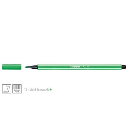Caneta Stabilo Pen 68/16 - Verde Esmeralda