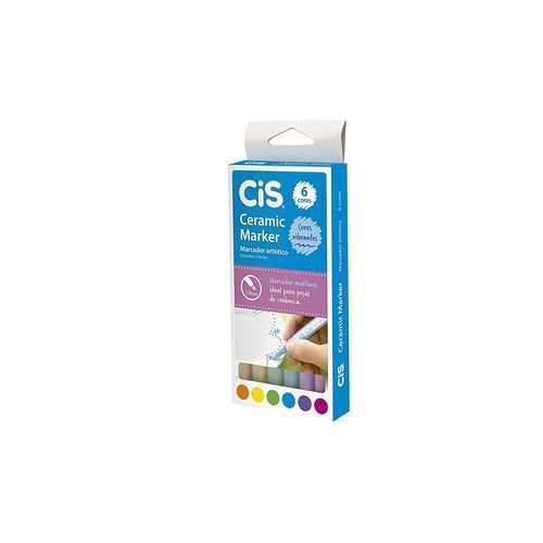 Caneta Cis Marker Ceramic 1.0 Mm 006 Cores 580500