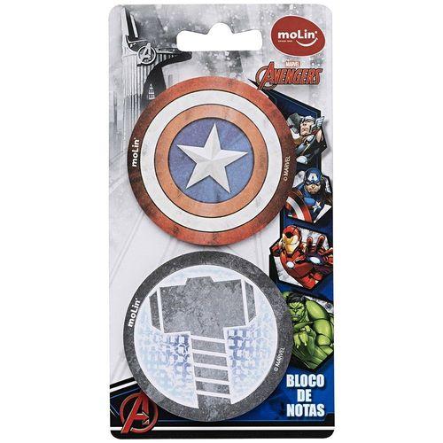 Bloco De Notas Adesivas Avengers - Bolsa Com 02 Blocos