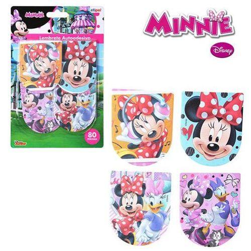 Bloco Autoadesivo / Sticker Para Recado Com 80 Folhas Minnie 8x6,5 Cm