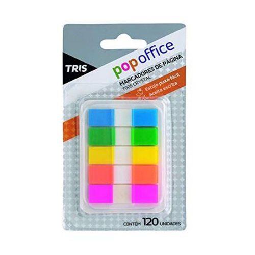 Marcador De Pagina Tris Pop Office T005 Crystal 120 Fls