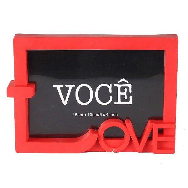 Porta Retrato Love 15X10cm - Vermelho