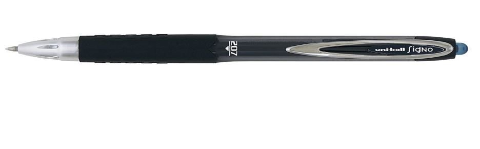 Signo Retract 0.7mm gel ink pen 207 blue black