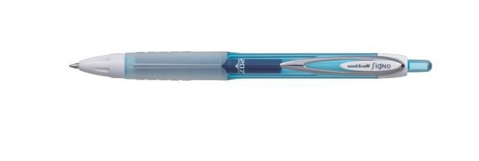 Caneta Gel Uni-ball Signo Umn-207f Fluor 0.7 Mm Azul Claro
