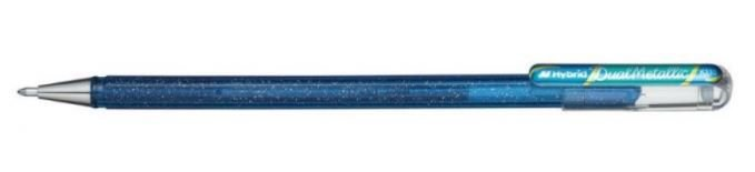 CANETA PENTEL HYBRID DUAL METALLIC ROLLER GEL 1.0 AZUL