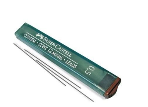 Grafite Técnico 0.5mm Faber Castell 2B Extra Macio