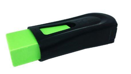 Apontador com Depósito e Borracha Fc Mix Black Neon Verde - Faber Castell