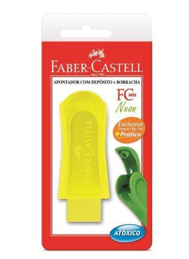 Apontador C/ Depósito Mix Neon + Borracha - Faber Castell