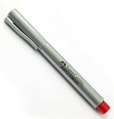 Caneta Hidrográfica Soft Point Vermelha 1,0mm - Faber Castell